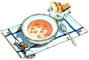 Куда наклонить тарелку с супом